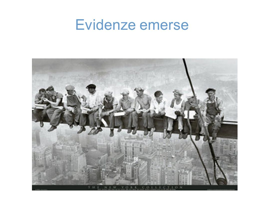 Evidenze emerse