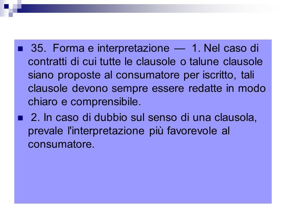 35.Forma e interpretazione — 1.