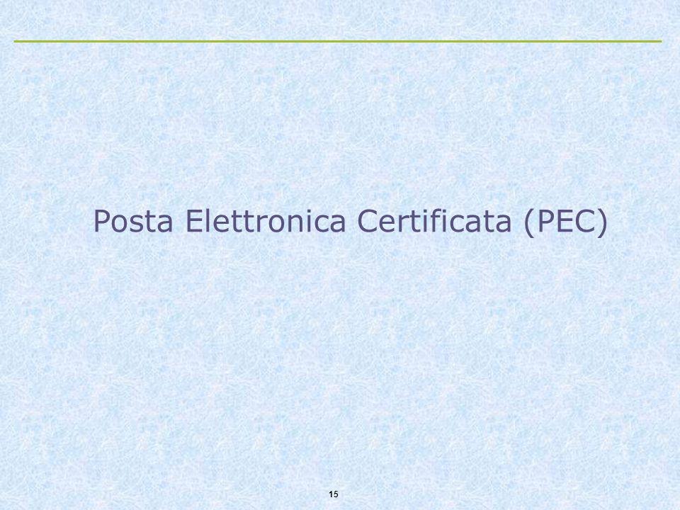 15 Posta Elettronica Certificata (PEC)