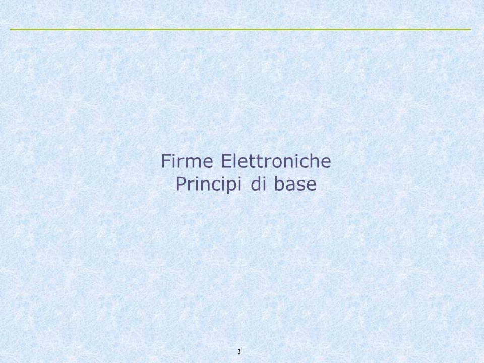 3 Firme Elettroniche Principi di base