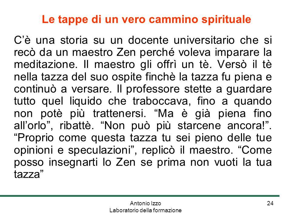 Antonio Izzo Laboratorio della formazione 24 C'è una storia su un docente universitario che si recò da un maestro Zen perché voleva imparare la meditazione.