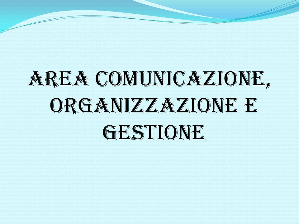 AREA COMUNICAZIONE, ORGANIZZAZIONE E GESTIONE