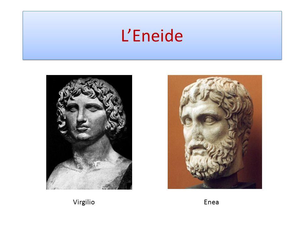 L'Eneide, in 12 libri in versi esametri, racconta le peregrinazioni di Enea per giungere in Italia, luogo destinato a divenire un impero universale per volere divino.