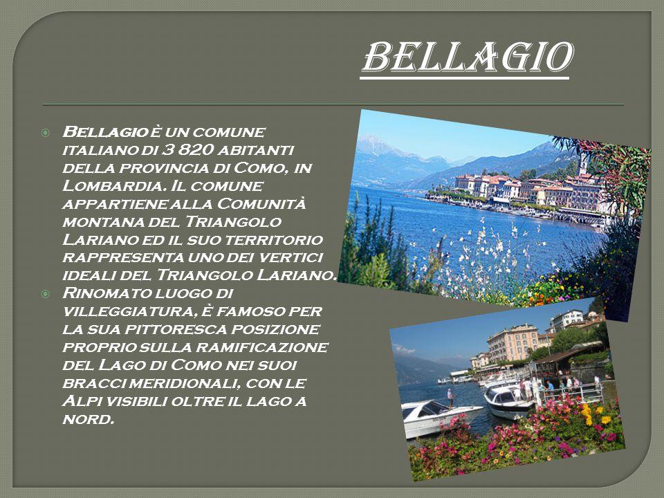  Bellagio è un comune italiano di 3 820 abitanti della provincia di Como, in Lombardia. Il comune appartiene alla Comunità montana del Triangolo Lari
