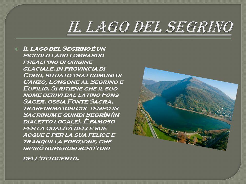  Il lago del Segrino è un piccolo lago lombardo prealpino di origine glaciale, in provincia di Como, situato tra i comuni di Canzo, Longone al Segrin