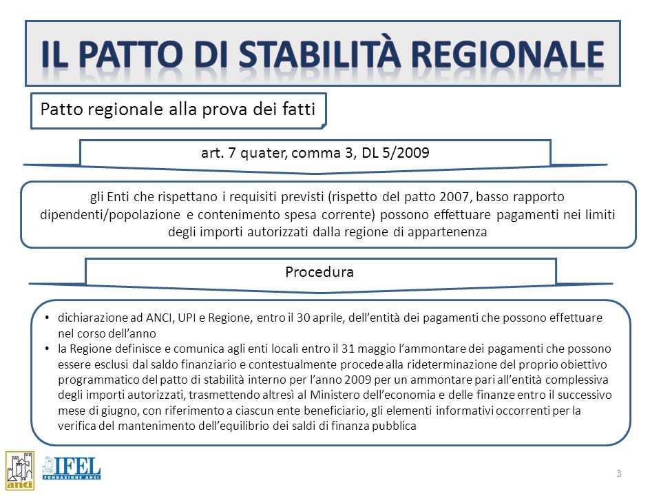 """art. 77 ter, comma 11, DL 112/2008 2 Primo approccio """"… la regione, sulla base di criteri stabiliti in sede di consiglio delle autonomie locali, può a"""
