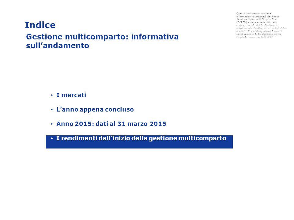 Indice Questo documento contiene informazioni di proprietà del Fondo Pensione dipendenti Gruppo Enel (FOPEN) e deve essere utilizzato esclusivamente dal destinatario in relazione alle finalità per le quali è stato ricevuto.