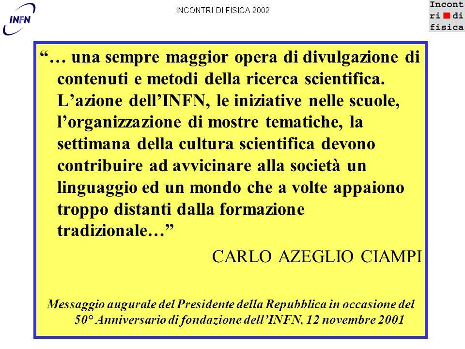 Stages studenti: come INCONTRI DI FISICA 2002