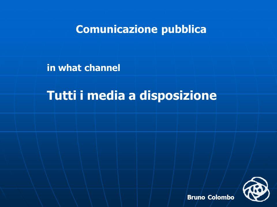 Bruno Colombo Comunicazione pubblica to whom Ai cittadini Alle organizzazioni Ai mass media A chi opera all'interno
