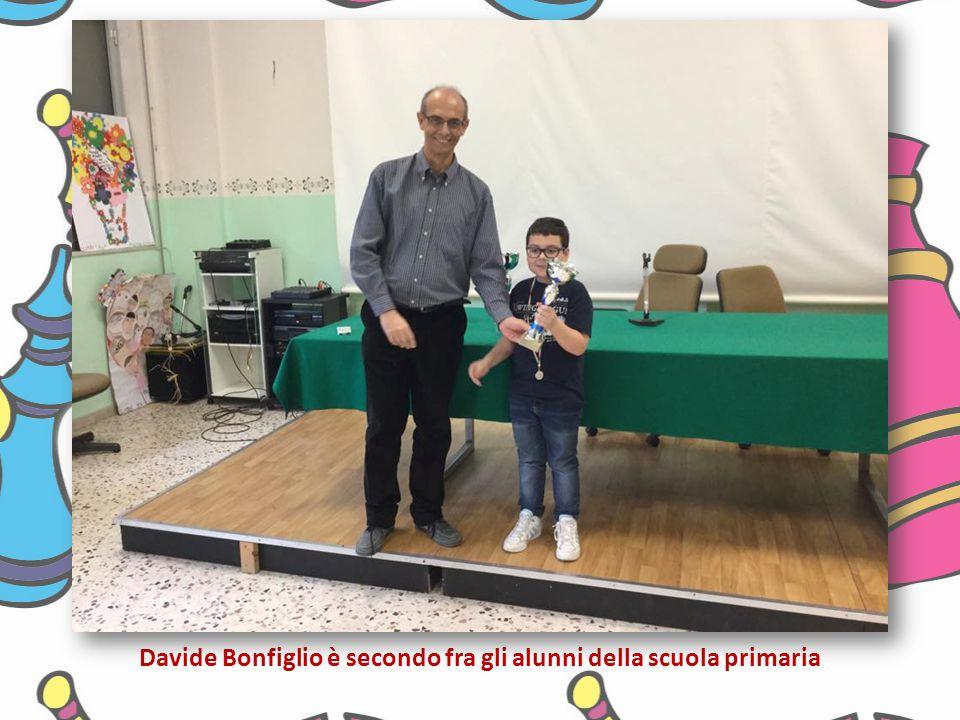 Davide Bonfiglio è secondo fra gli alunni della scuola primaria