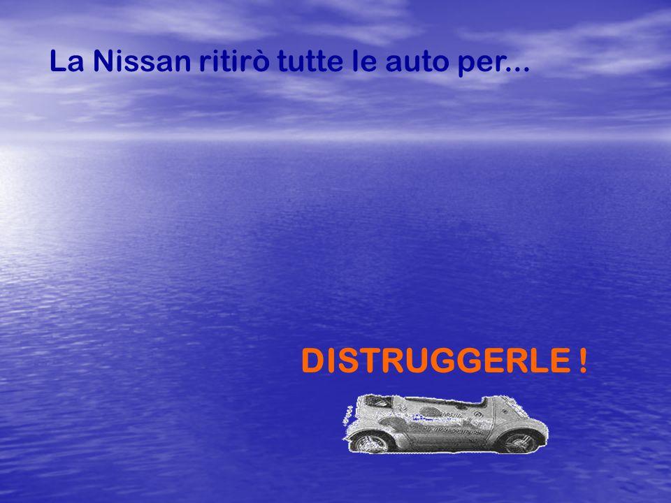 Il municipio tentò di comprare le auto, ma la Nissan non lo permise.