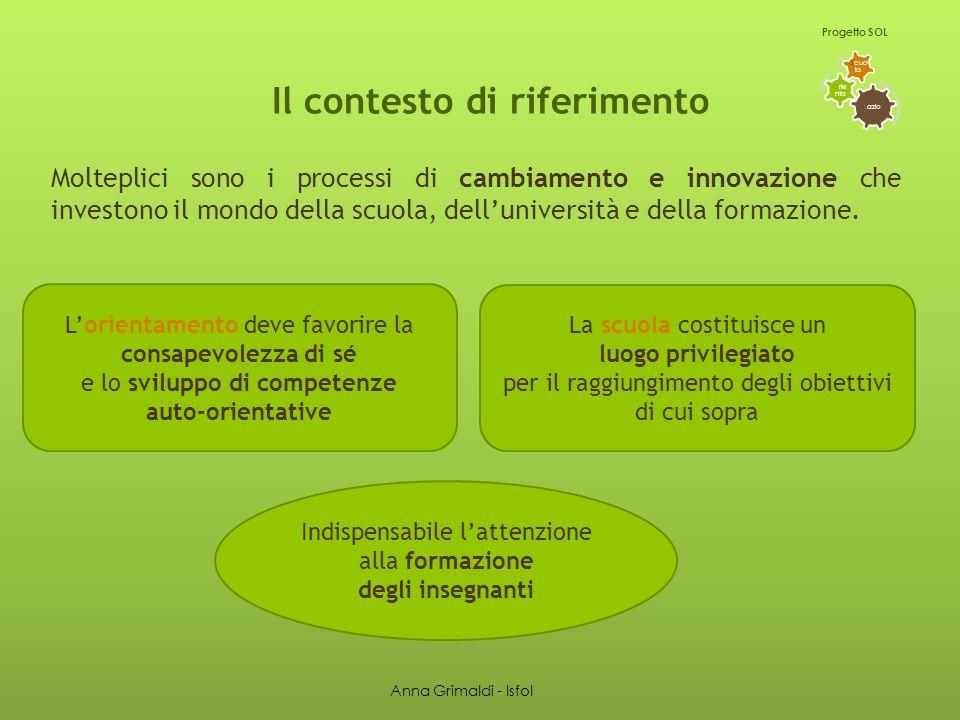Il contesto di riferimento Molteplici sono i processi di cambiamento e innovazione che investono il mondo della scuola, dell'università e della formazione.