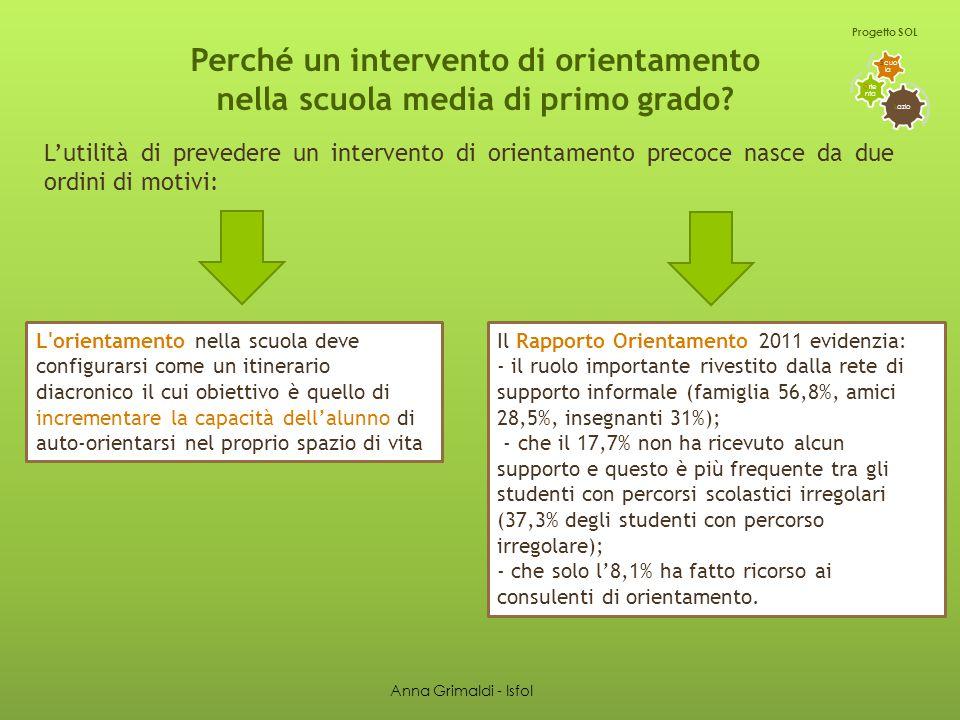 Fronteggiamento degli insuccessi scolastici L azio O rie nta S cuo la Progetto SOL I RISULTATI Anna Grimaldi - Isfol