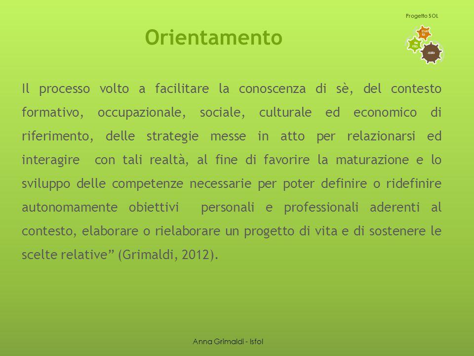 Fattori che influenzano la scelta del percorso di studi L azio O rie nta S cuo la Progetto SOL I RISULTATI Anna Grimaldi - Isfol