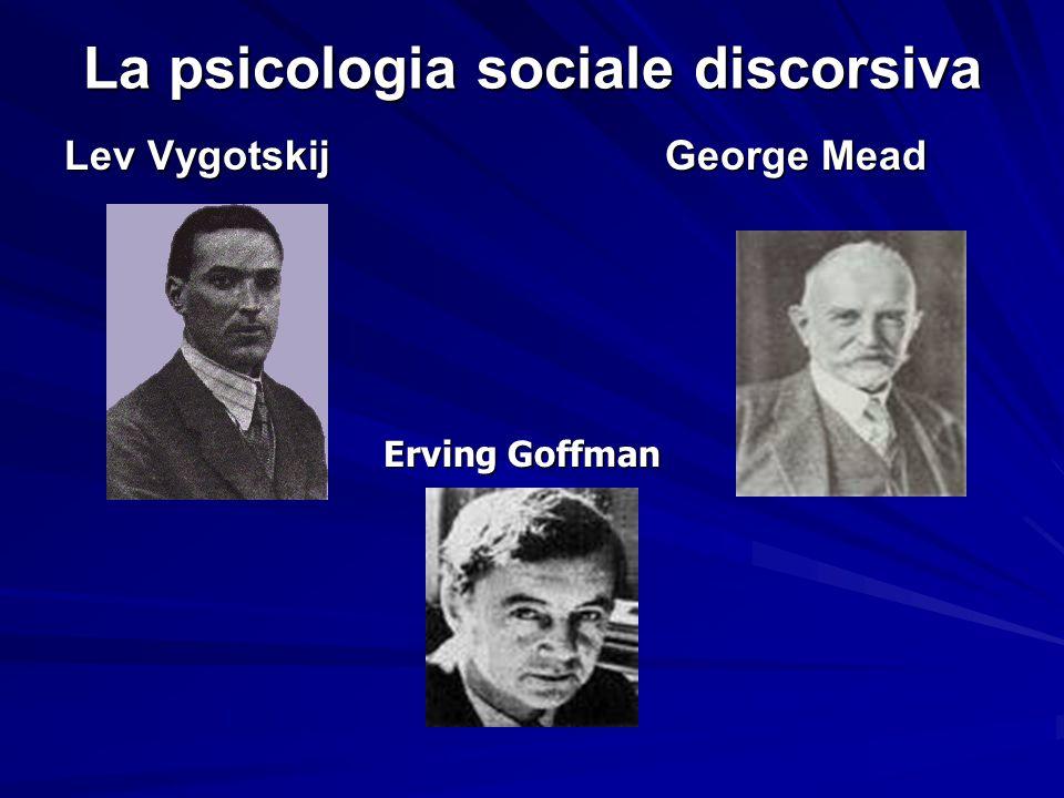 La psicologia sociale discorsiva Lev Vygotskij George Mead Erving Goffman