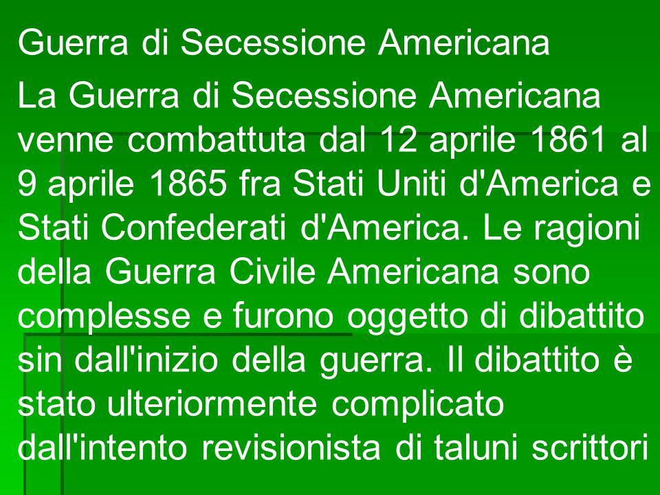Volto a sminuire il ruolo svolto dallo schiavismo delle motivazioni della secessione.