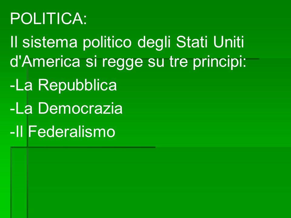La vita politica è dominata dai due partiti maggiori, il Partito Democratico e quello della Repubblica.