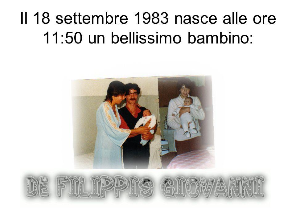 Il 18 settembre 1983 nasce alle ore 11:50 un bellissimo bambino: