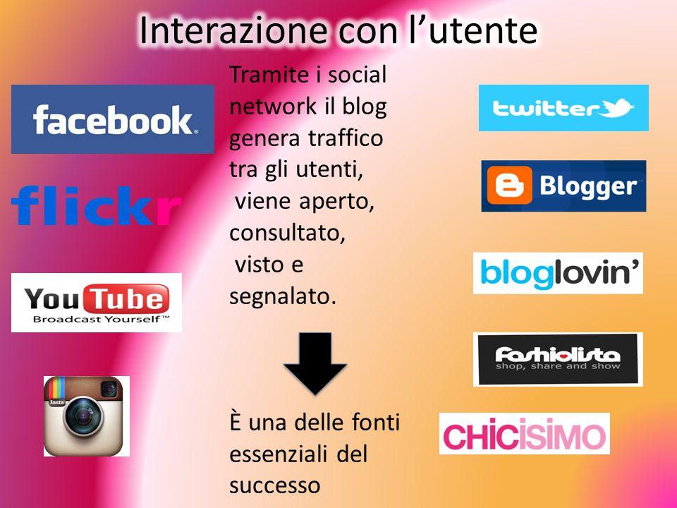 Tramite i social network il blog genera traffico tra gli utenti, viene aperto, consultato, visto e segnalato.
