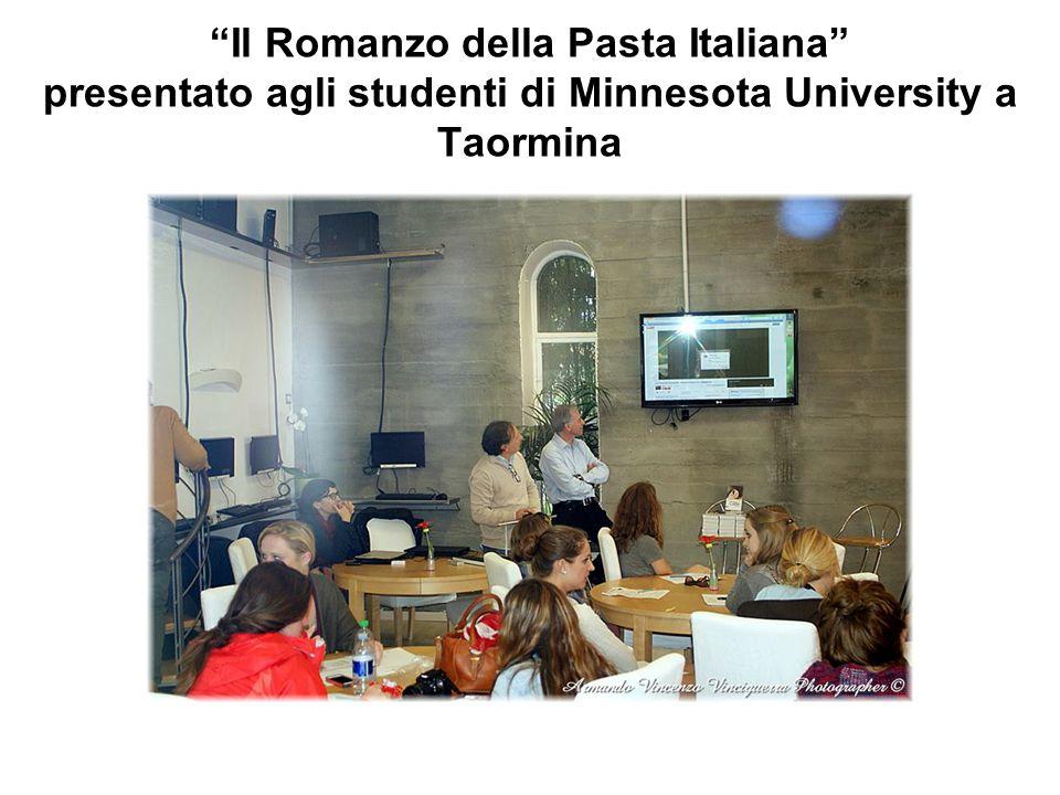 """""""Il Romanzo della Pasta Italiana"""" presentato agli studenti di Minnesota University a Taormina"""