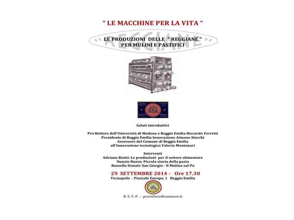 Il Romanzo della Pasta Italiana Tecnopolo Reggiano Università degli Studi Modena e Reggio Emilia