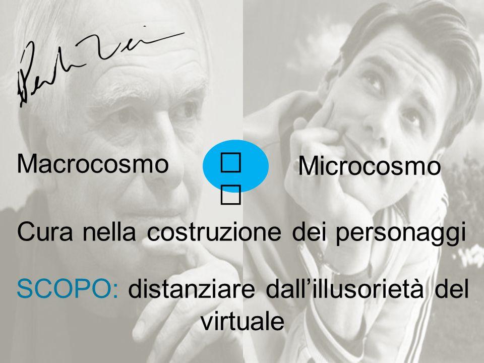 VSVS Microcosmo Macrocosmo Cura nella costruzione dei personaggi SCOPO: distanziare dall'illusorietà del virtuale