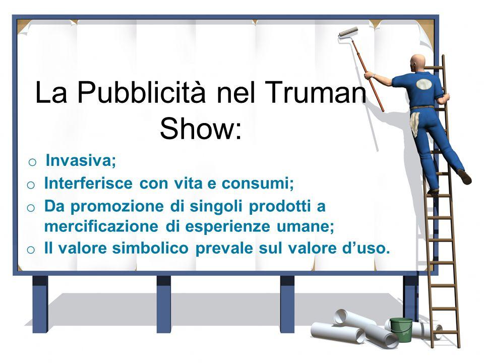 La Pubblicità nel Truman Show: o Il valore simbolico prevale sul valore d'uso.