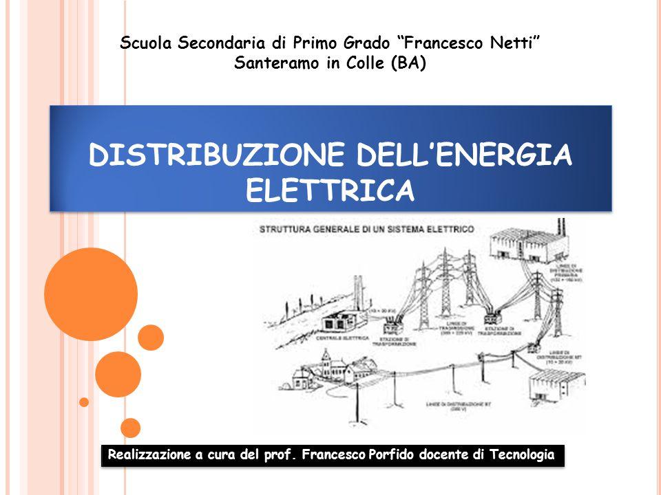 DISTRIBUZIONE DELL'ENERGIA ELETTRICA Realizzazione a cura del prof.