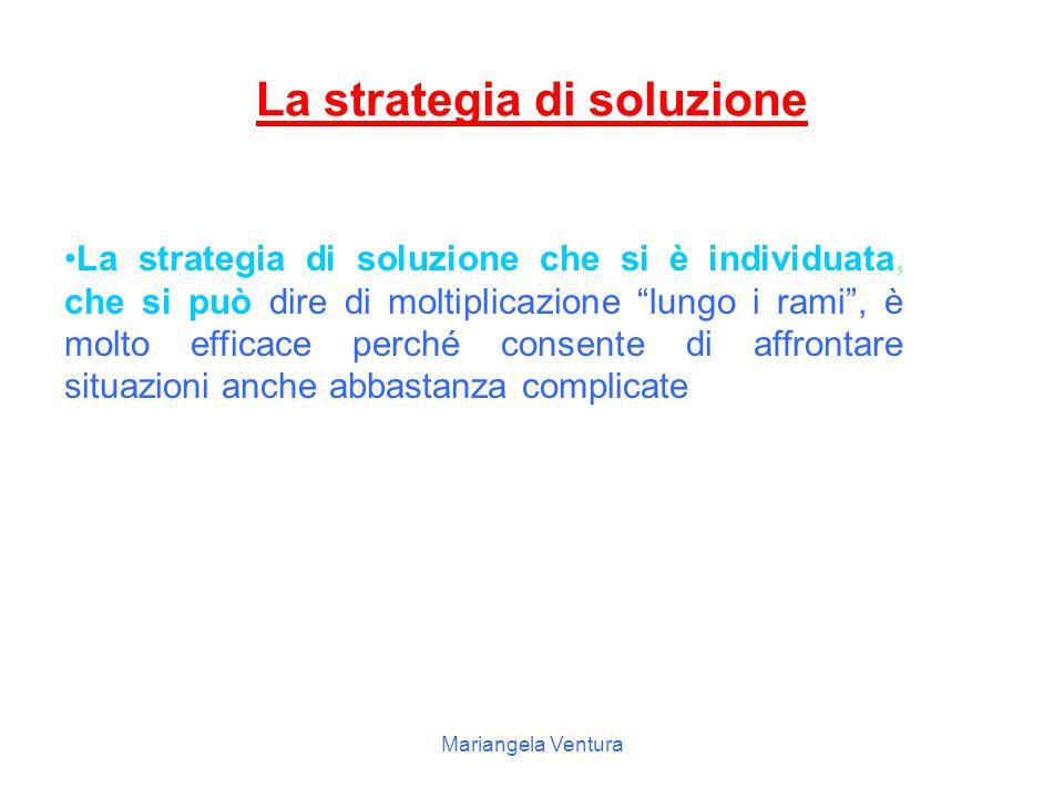 Mariangela Ventura La soluzione di un problema viene eseguita utilizzando un grafo ad albero a diversi piani, le probabilità di ciascun evento sono sc
