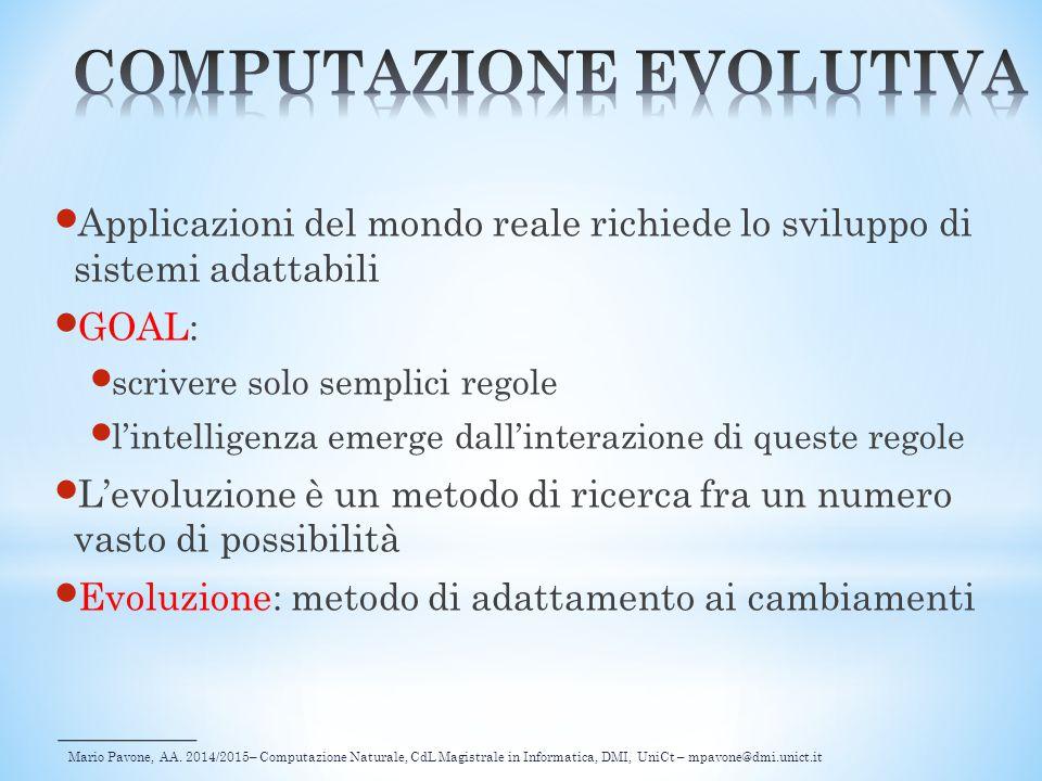 Mario Pavone, AA. 2014/2015– Computazione Naturale, CdL Magistrale in Informatica, DMI, UniCt – mpavone@dmi.unict.it Applicazioni del mondo reale rich
