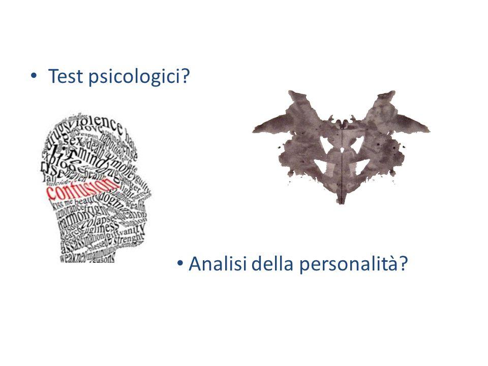 Test psicologici Analisi della personalità