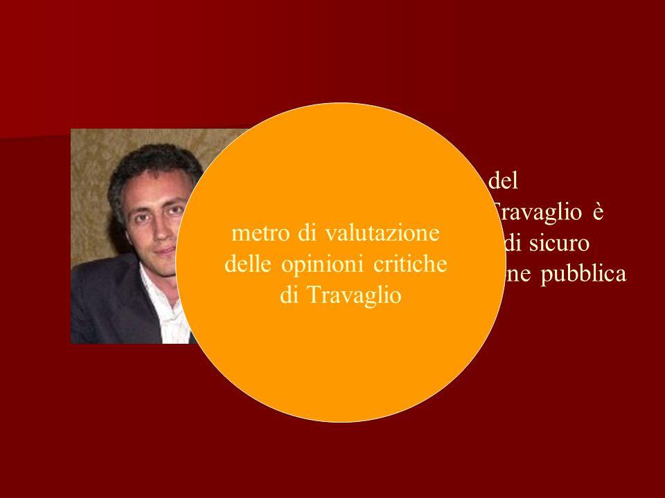 L'opinione critica del giornalista Marco Travaglio è ancorata a fatti veri di sicuro interesse per l opinione pubblica metro di valutazione delle opinioni critiche di Travaglio