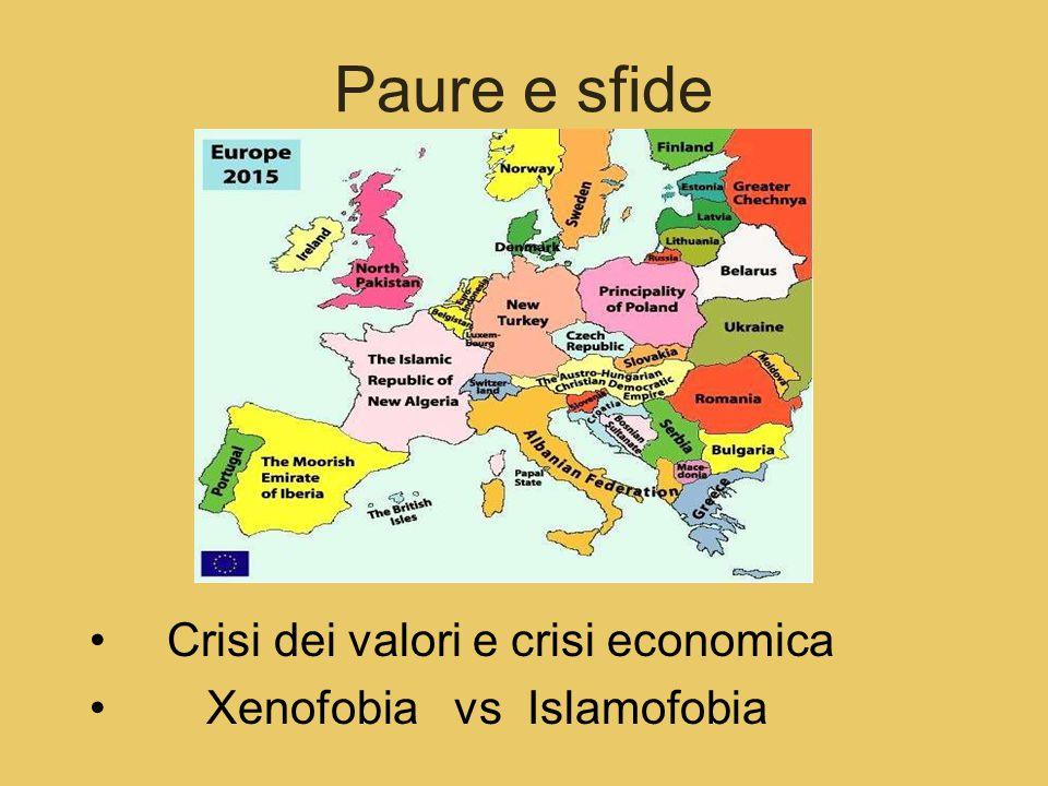 Paure e sfide Crisi dei valori e crisi economica Xenofobia vs Islamofobia