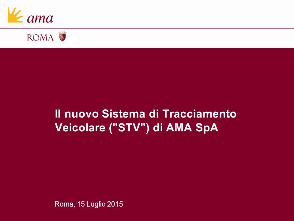 Roma, 15 Luglio 2015 Il nuovo Sistema di Tracciamento Veicolare (