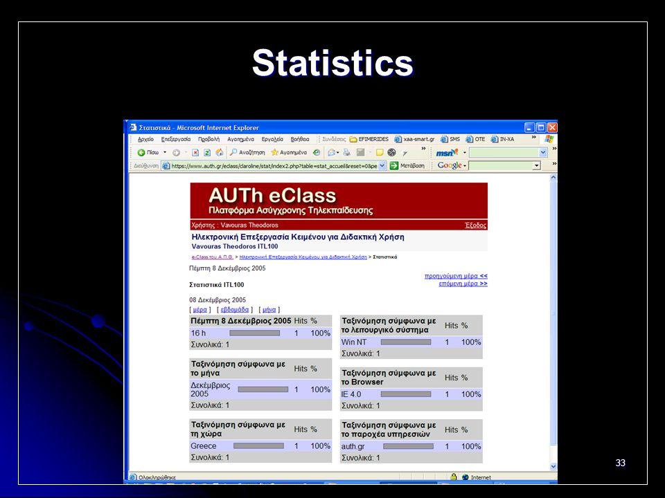 33 Statistics