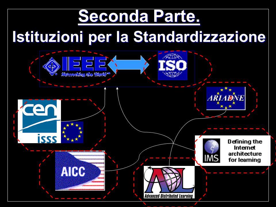 Seconda Parte. Istituzioni per la Standardizzazione