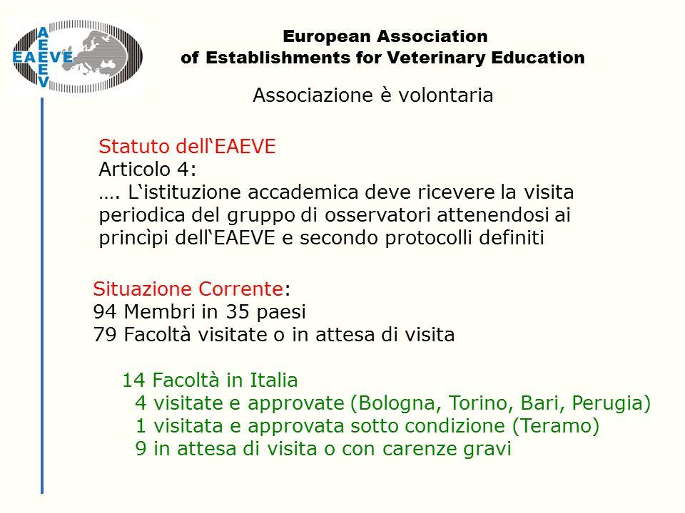 Statuto dell'EAEVE Articolo 4: ….