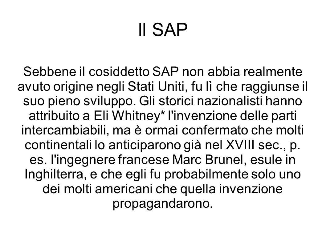 Il SAP Sebbene il cosiddetto SAP non abbia realmente avuto origine negli Stati Uniti, fu lì che raggiunse il suo pieno sviluppo.