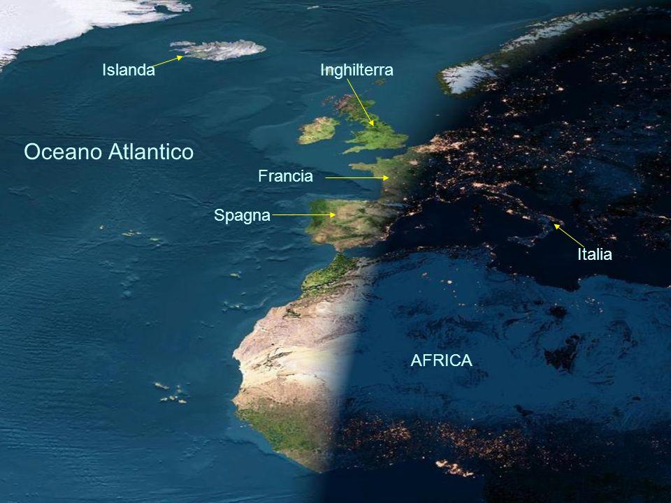 Francia Spagna AFRICA Italia InghilterraIslanda Oceano Atlantico