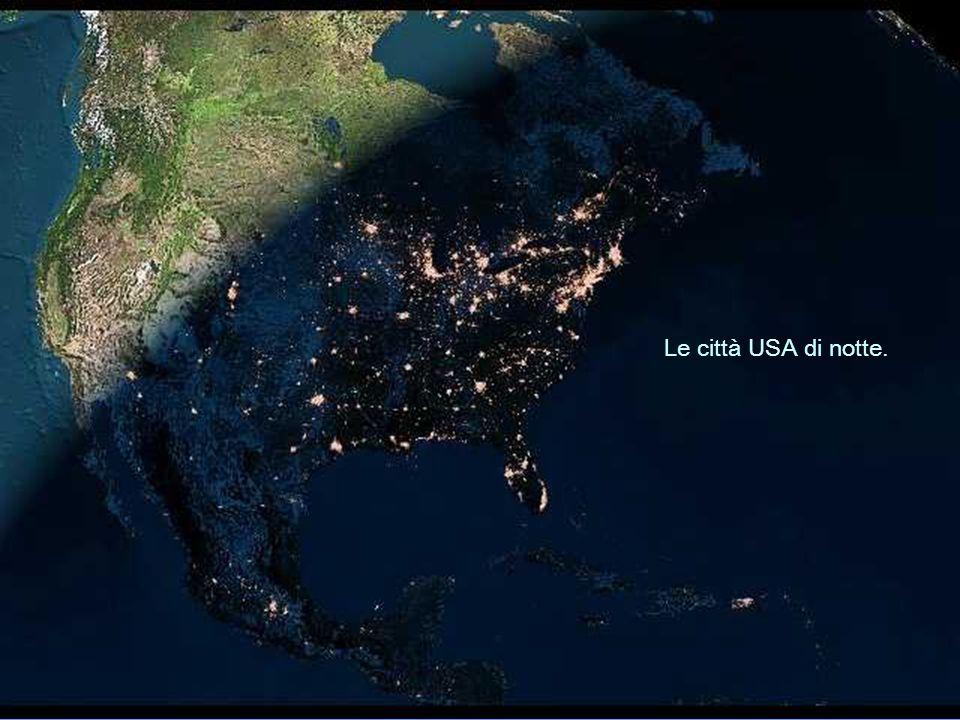 Le città USA di notte.