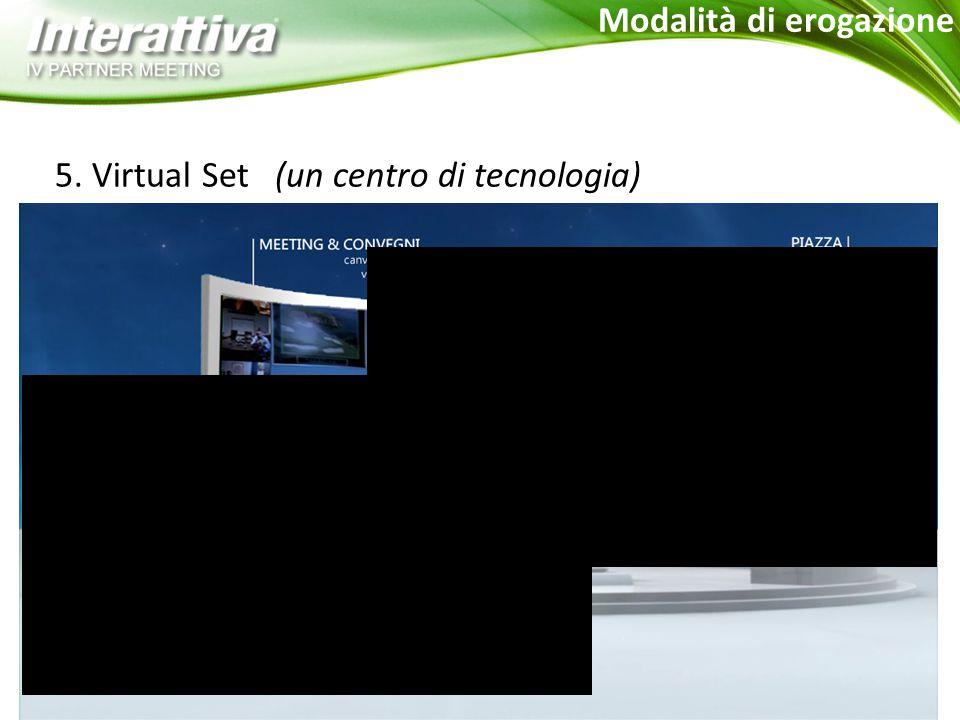 5. Virtual Set (un centro di tecnologia) Modalità di erogazione