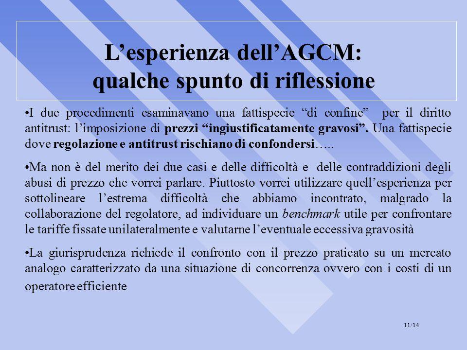 L'esperienza dell'AGCM: qualche spunto di riflessione I due procedimenti esaminavano una fattispecie di confine per il diritto antitrust: l'imposizione di prezzi ingiustificatamente gravosi .