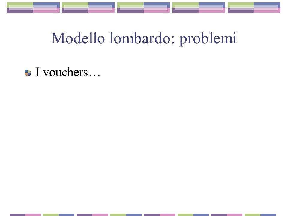 Modello lombardo: problemi I vouchers…