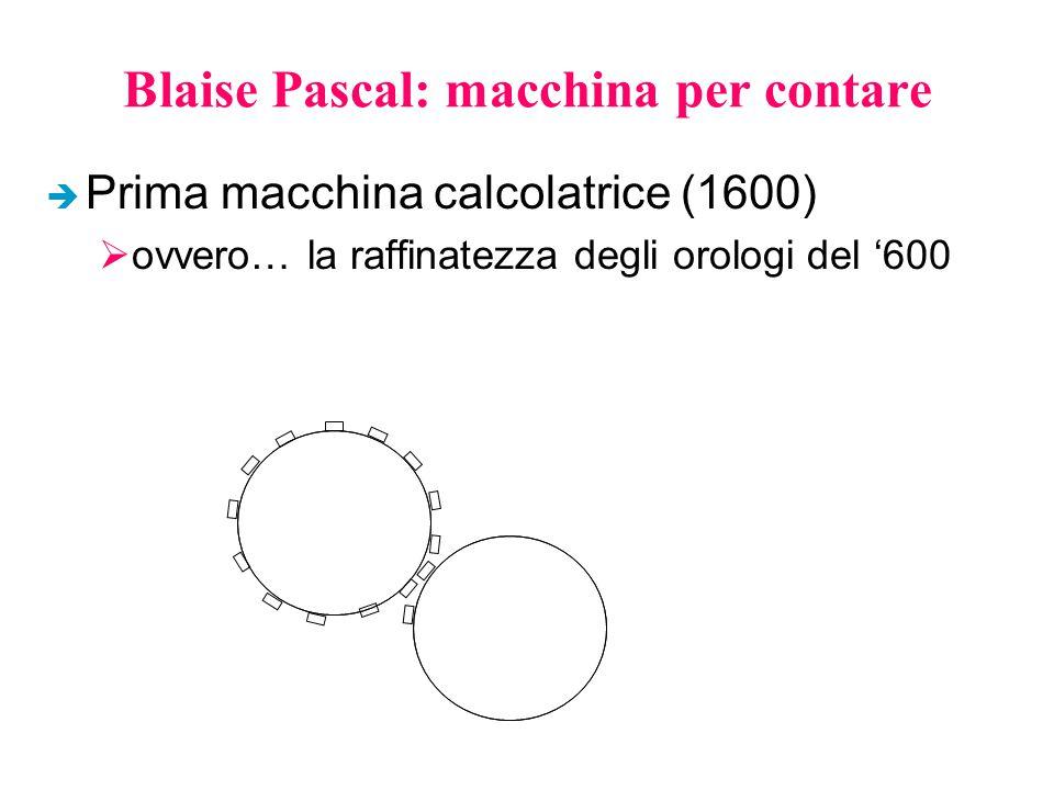 Blaise Pascal: macchina per contare è Prima macchina calcolatrice (1600)  ovvero… la raffinatezza degli orologi del '600