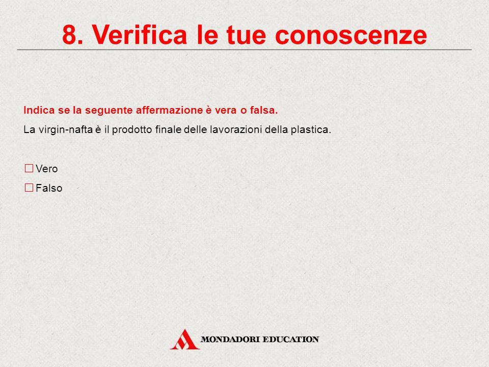 Completa l'affermazione nel modo corretto. Le materie plastiche sono prodotte a partire: dalla clorofilla delle foglie. da monomeri derivati dal petro