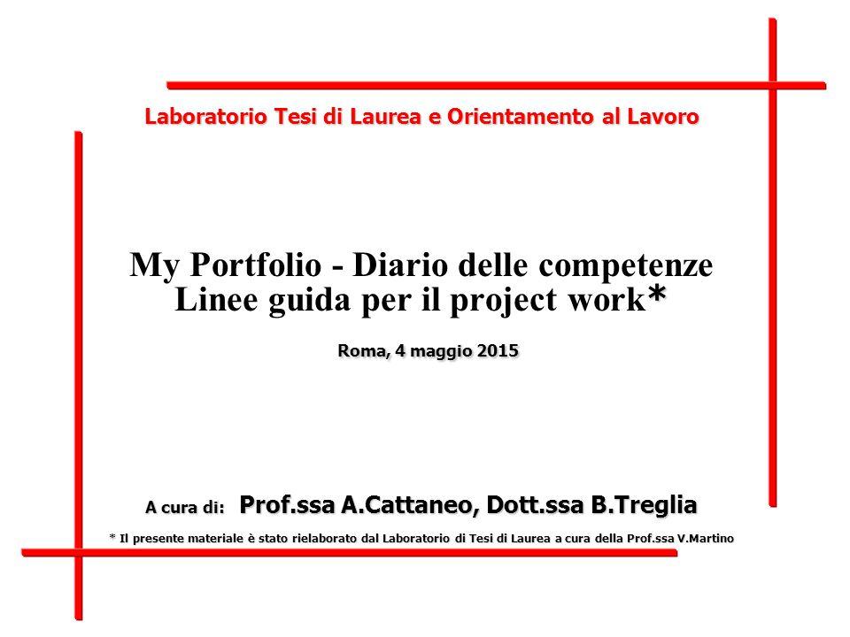 Laboratorio di Tesi di Laurea – CORIS – My Portfolio.