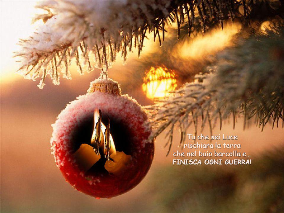 Ma quando è Natale? AdessoèNatale! Tu Bambinello che dormi sereno coperto soltanto di paglia e di fieno sai che nel mondo non c 'è solo questo: c'è ch