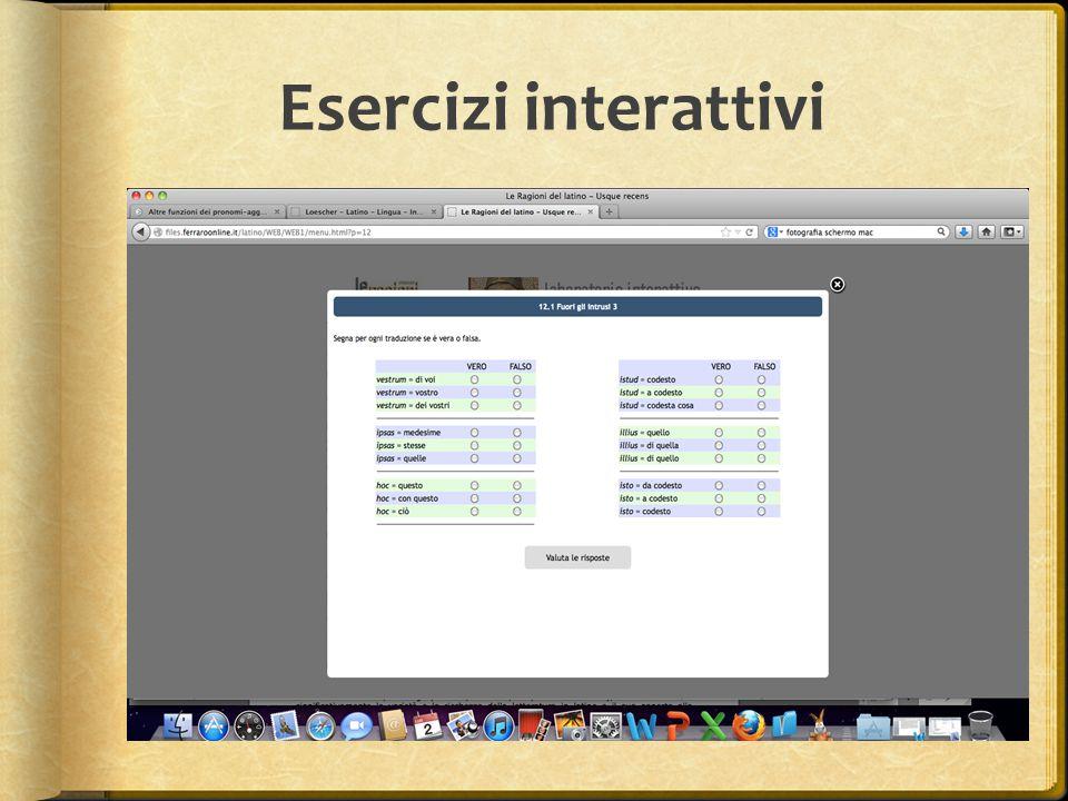 Esercizi interattivi