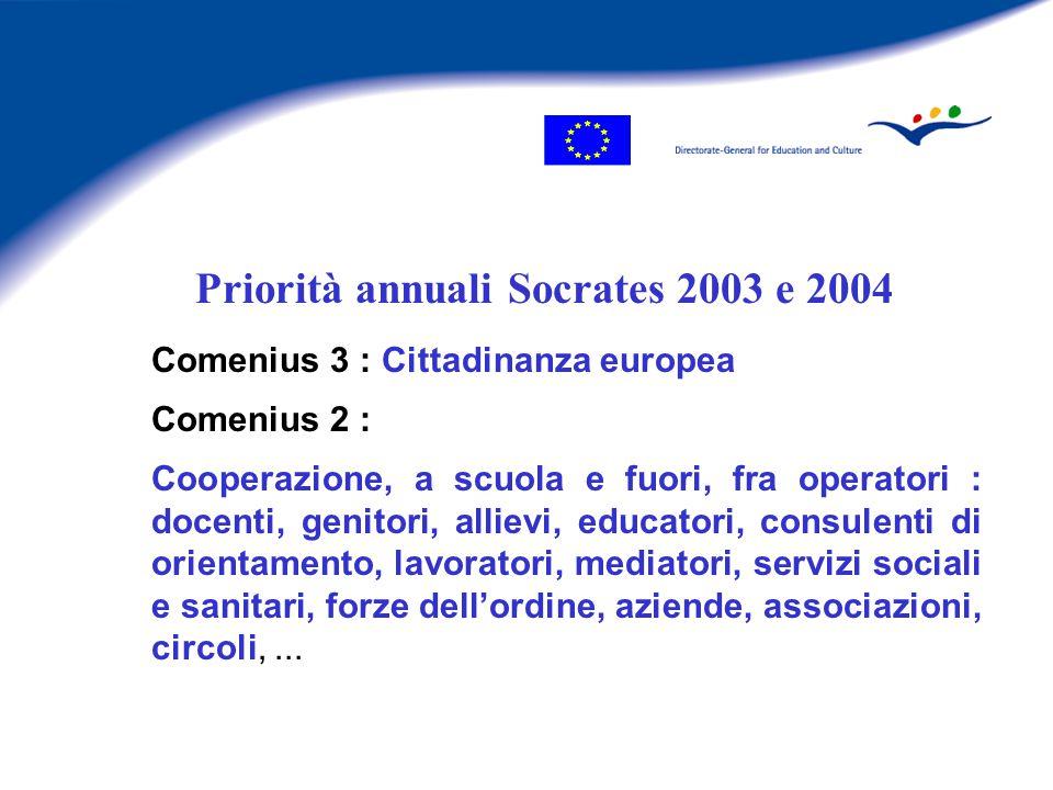 Educare alla cittadinanza : una prospettiva europea F SOCRATES F SOCRATES : qualità e dimensione europea dell'istruzione, cooperazione, lingue F Obiettivi strategici F Obiettivi strategici per i sistemi educativi europei