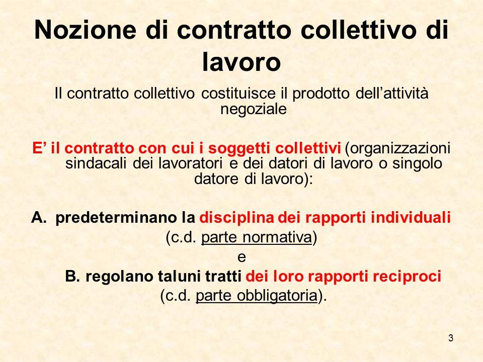 4 Tipi di contratto collettivo Nel nostro ordinamento si sono succeduti, nel tempo, vari tipi di contratto collettivo: Il contratto collettivo corporativo; Il contratto collettivo previsto all'art.